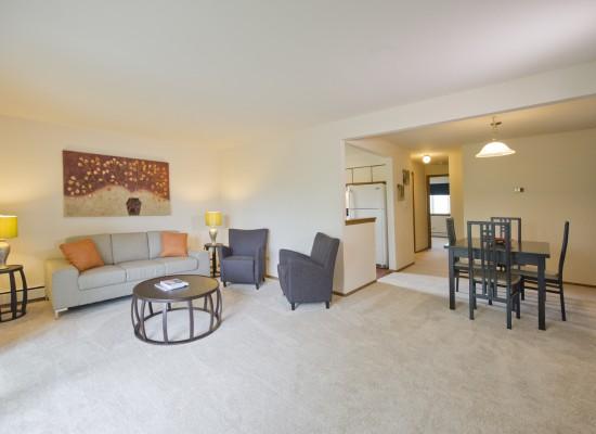 Living Room & Dining Room